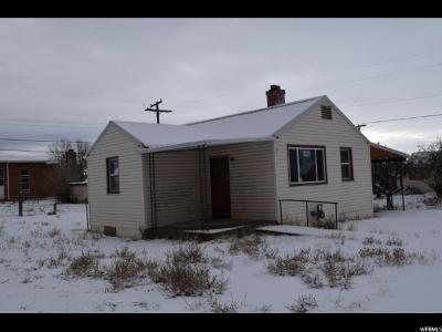 East Carbon UT Single Family Home For Sale: $40,000