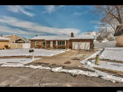West Valley City Single Family Home For Sale: 5002 W Kiowa Ct S