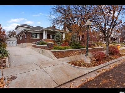 Salt Lake City Single Family Home For Sale: 1341 E Sherman Ave