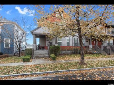 South Jordan Townhouse For Sale: 4265 W Lake Bridge Dr