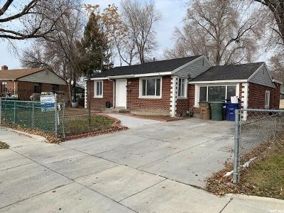 Salt Lake City Single Family Home For Sale: 1085 S Glendale Dr