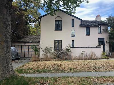 Salt Lake City Single Family Home For Sale: 1133 E Harvard S