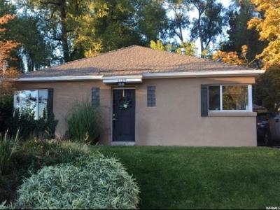 Salt Lake City Single Family Home For Sale: 1139 E Sunnyside Ave S