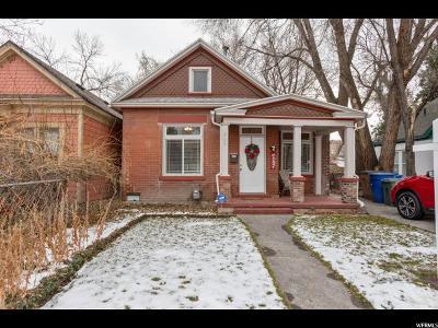 Salt Lake City Single Family Home For Sale: 350 E Harvard Ave S