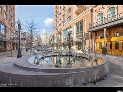 Salt Lake City Condo For Sale: 45 W South Temple #804