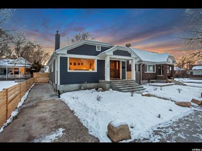 Salt Lake City Single Family Home For Sale: 756 E Garfield S