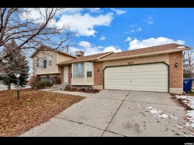 Salt Lake County Single Family Home For Sale: 4035 S 3420 W