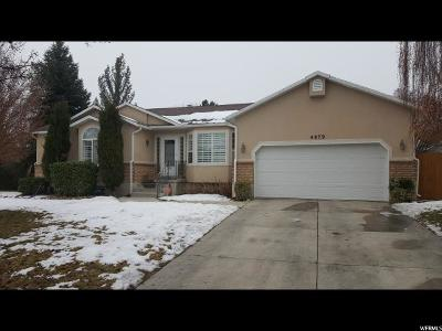 West Jordan Single Family Home For Sale: 4879 W 8700 S