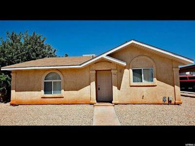 St. George Single Family Home For Sale: 1840 W 1100 N #44