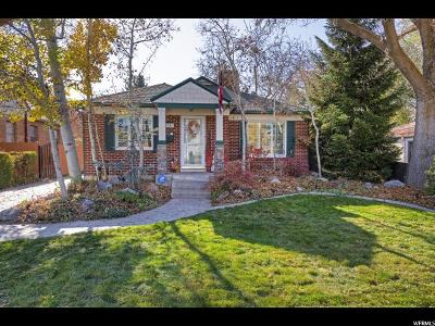 Salt Lake City Single Family Home For Sale: 1758 E 2100 S