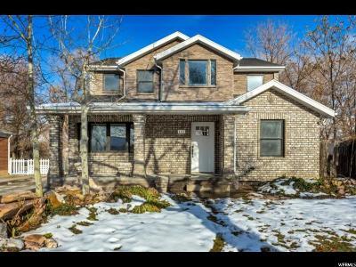 Salt Lake City Single Family Home For Sale: 2063 E Stratford Dr S