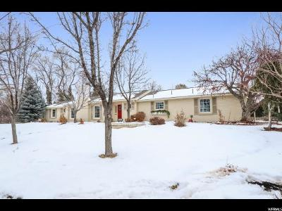 Salt Lake City Single Family Home For Sale: 1291 S Wasatch Dr