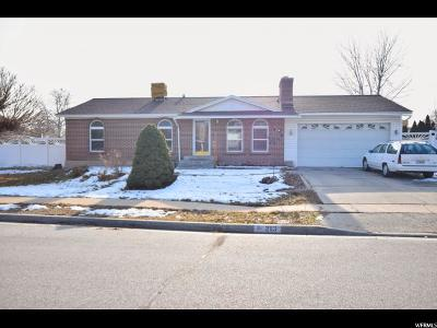 Salt Lake County Single Family Home For Sale: 2113 W Knights Way