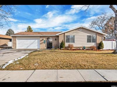 West Jordan Single Family Home For Sale: 6843 S Clover Cir W