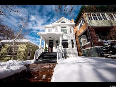 Salt Lake City Single Family Home For Sale: 813 E 1st Ave