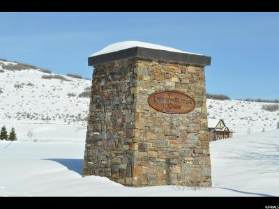 Wasatch County Residential Lots & Land For Sale: 310 E Deer Ridge Dr