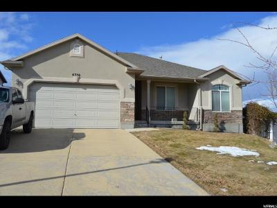 West Jordan Single Family Home For Sale: 6336 W Oquirrh Point Rd S