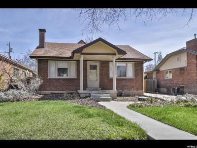 Salt Lake City Single Family Home For Sale: 2691 S Chadwick