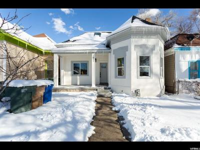 Salt Lake City Single Family Home For Sale: 833 S Jefferson W