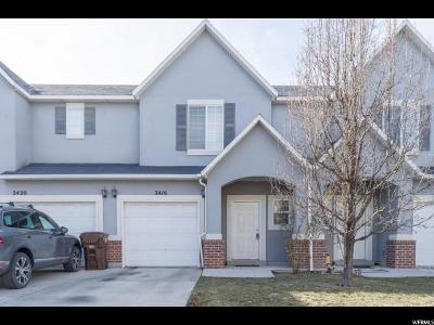 West Valley City Townhouse For Sale: 2416 S White Village Ct