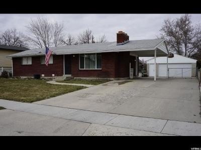 West Valley City Single Family Home For Sale: 3142 W Minuet Ave S