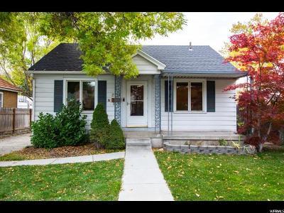Salt Lake City Single Family Home For Sale: 2724 S Beverly St E