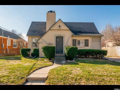 Salt Lake City Single Family Home For Sale: 1744 E 1300 S