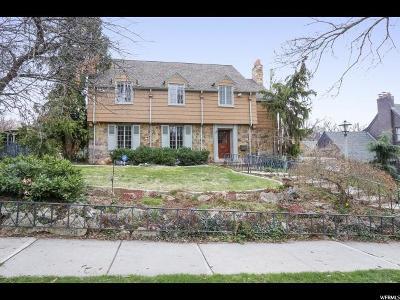 Salt Lake County Single Family Home For Sale: 1380 E Harvard Ave