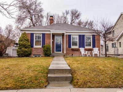Salt Lake City Single Family Home For Sale: 2059 E Stratford Dr S