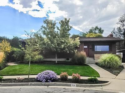 Salt Lake City Single Family Home For Sale: 998 E Jasper Cir