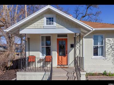 Salt Lake City Single Family Home For Sale: 1845 S 800 E