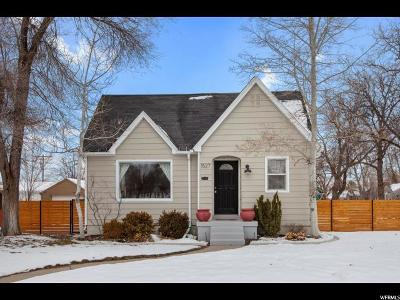 Salt Lake City Single Family Home For Sale: 1527 E 2700 S