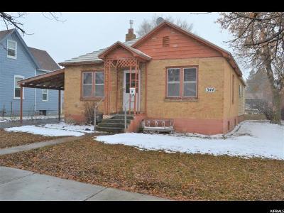 Logan UT Single Family Home For Sale: $215,000