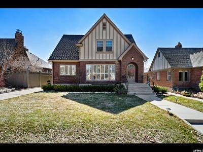 Salt Lake City Single Family Home For Sale: 1746 E Herbert Ave