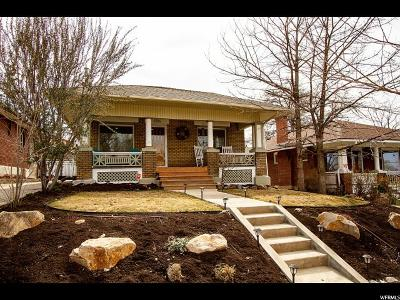 Salt Lake City Single Family Home For Sale: 1336 E Kensington S