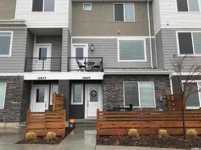 Salt Lake County Townhouse For Sale: 10849 S Big Meadow Dr