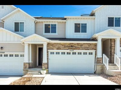 Bluffdale Townhouse For Sale: 15351 S Tarawa Dr