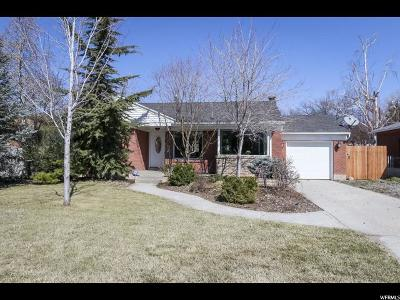 Salt Lake County Single Family Home For Sale: 1751 E Kenwood Cir