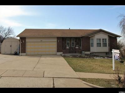 North Ogden Single Family Home Under Contract: 487 E 3300 N