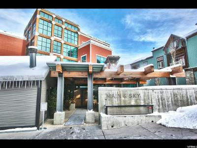 Park City Single Family Home Under Contract: 201 Heber Ave #206-F