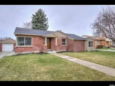Holladay Single Family Home For Sale: 3918 S 3120 E