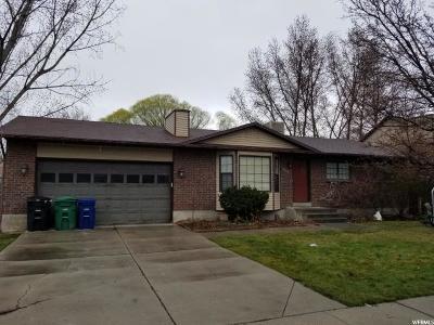 West Jordan Single Family Home For Sale: 6816 S 3370 W