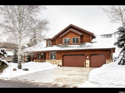 Park City Single Family Home For Sale: 1562 Cutter Ln