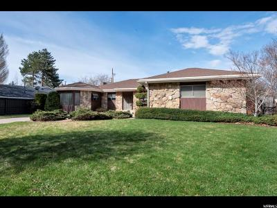 Salt Lake City Single Family Home For Sale: 4326 S Mulholland St
