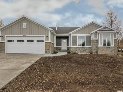 Wasatch County Single Family Home For Sale: 654 E 170 N