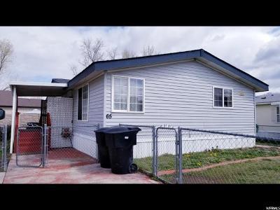 Weber County Single Family Home For Sale: 4375 Weber River Dr #65