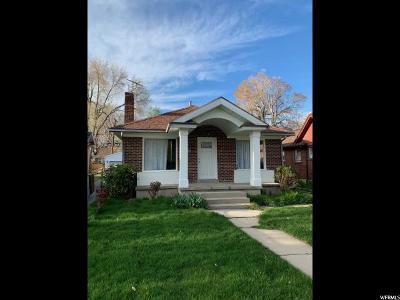 Salt Lake City Single Family Home For Sale: 137 E Herbert Ave.