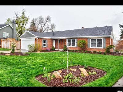 Salt Lake City Single Family Home For Sale: 2522 E Skyline Dr S