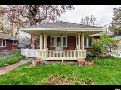 Salt Lake City Single Family Home For Sale: 1195 Stratford Dr