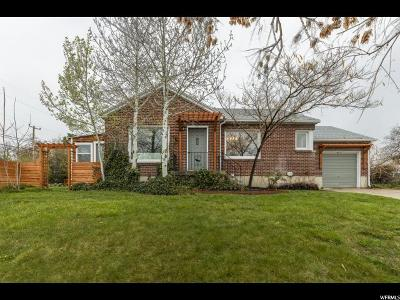 Salt Lake City Single Family Home For Sale: 2575 S 1700 E